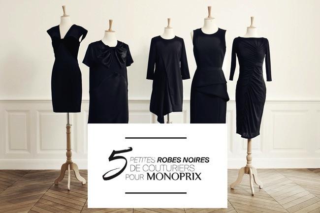"""MONOPRIX """"Les 5 petites robes noires"""" par © Ma Sérendipité"""