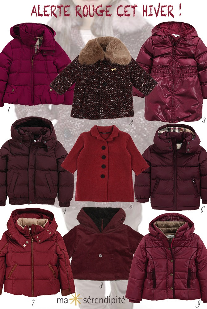 Selection MANTEAUX AW13-14 ROUGE