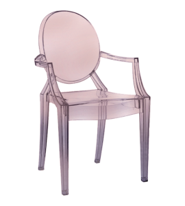 KARTELL_Chaise_loulou_ghost_rose