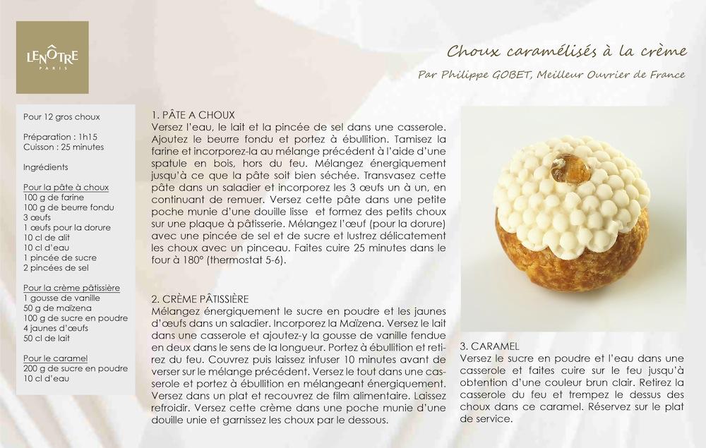 LENOTRE_Recette_Choux_Caramelises