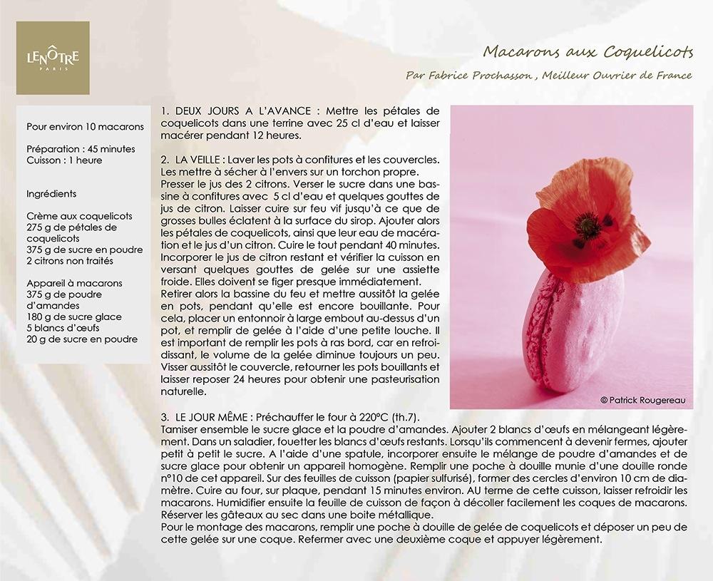 LENOTRE_Recette_Macarons_Coquelicots