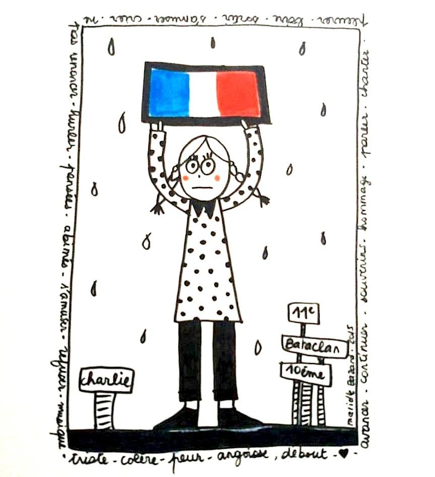 Fille-Paris-drapeau-france-Marielle-Bazard