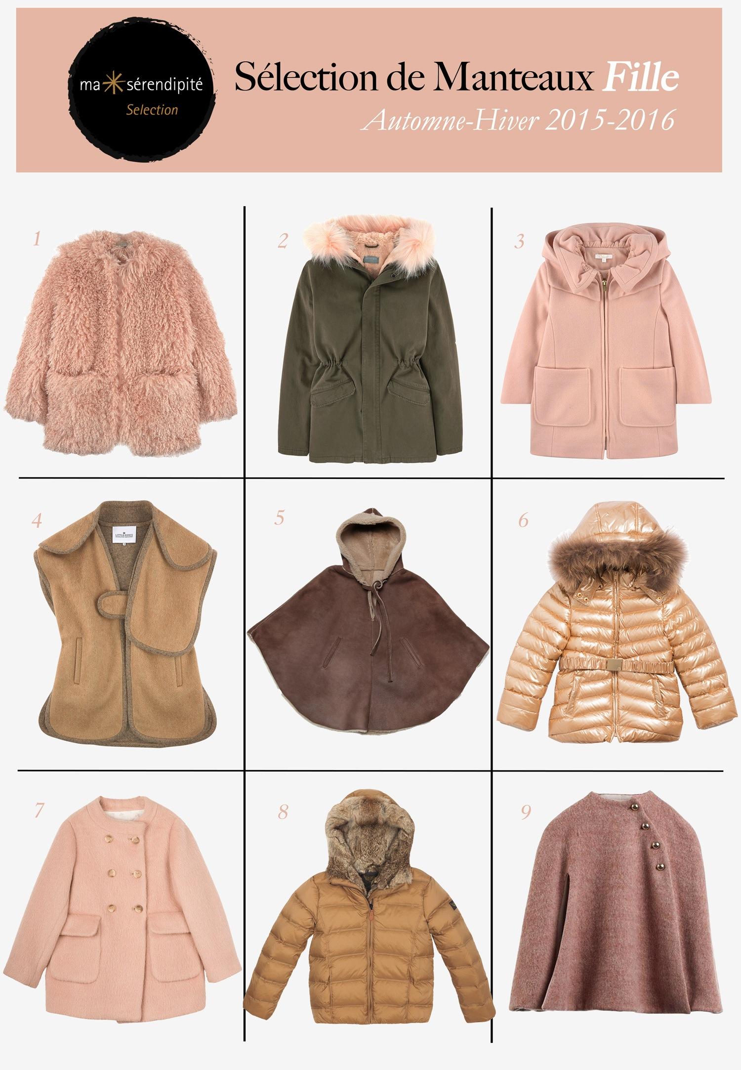 Notre sélection de manteaux Fille   l hiver sera tendre avec les filles ffee08adae7