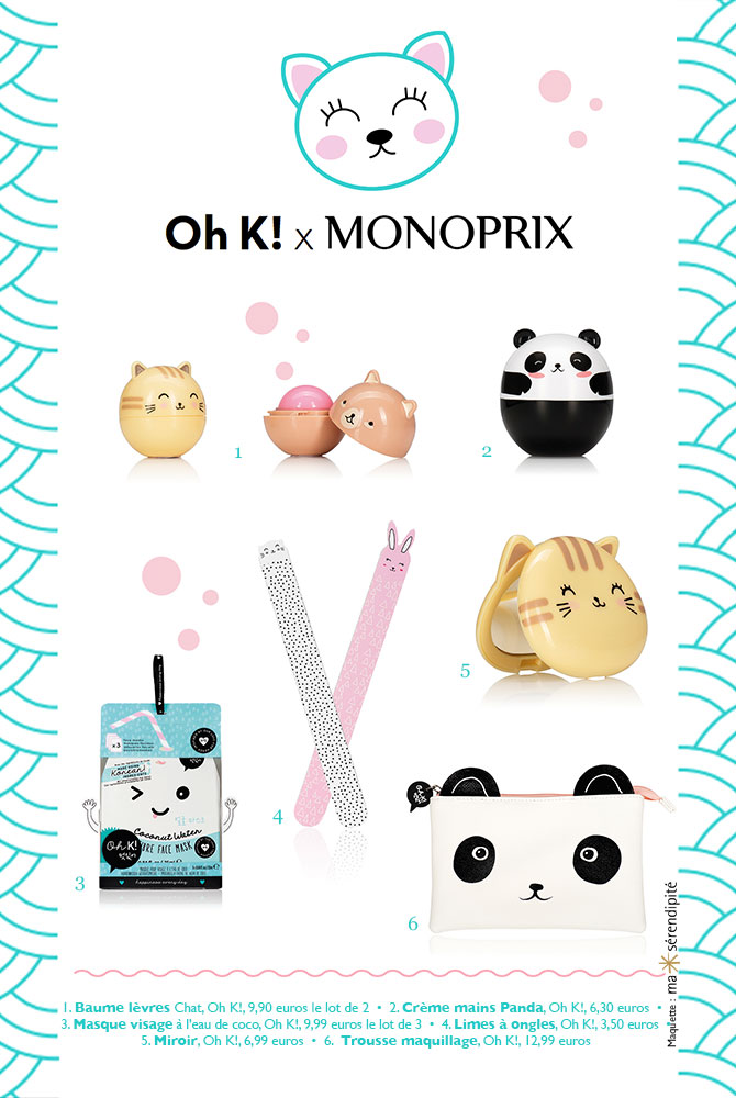 Kawaii beauty Monoprix Oh K