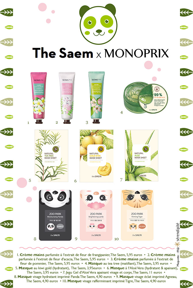 Kawaii beauty Monoprix The Saem