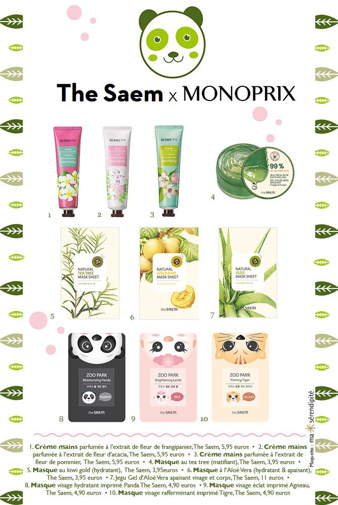 Kawaii beauty Monoprix The Saem