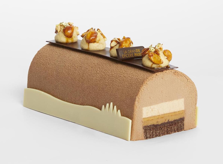 LGEDP - Création des chefs - Bûche chocolat, cacahuètes, caramel